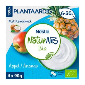 Nestlé Naturnes appel ananas toetje product photo