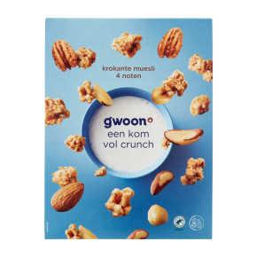 g'woon Krokant muesli 4 noten product photo