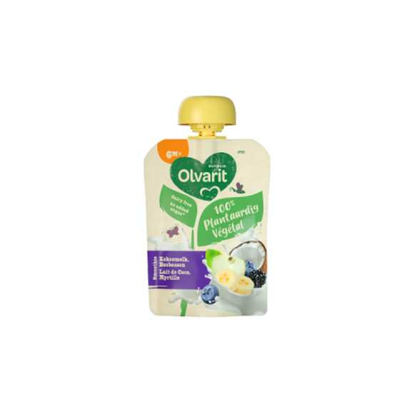 Olvarit Plantaardige kokosmelk vosbessen smoothie 6+ maanden product photo
