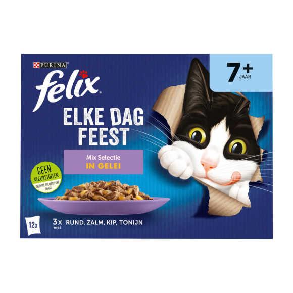 FELIX Elke Dag Feest Mix Selectie in Gelei 7+ Senior 12x85g product photo