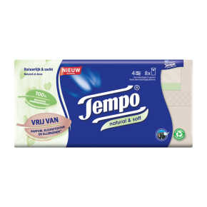 Tempo Zakdoekjes natural & soft product photo
