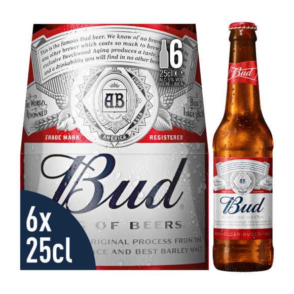 Bud Pils Bier Flessen 6 x 25cl product photo