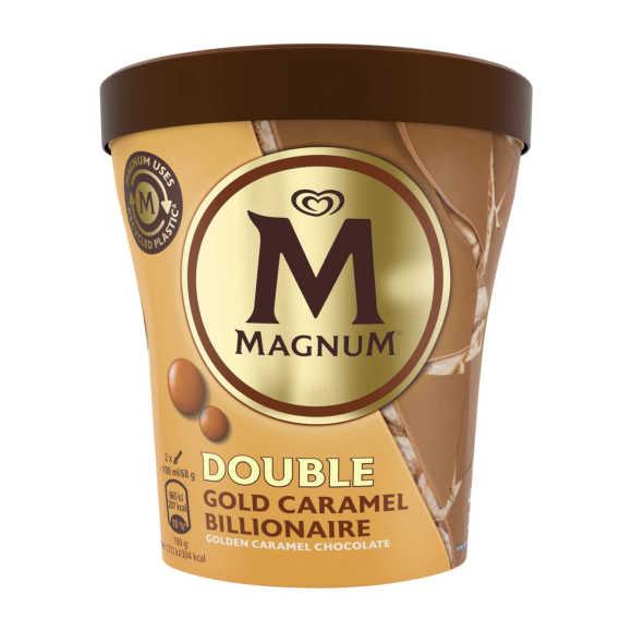 Magnum Double caramel gold billionair product photo