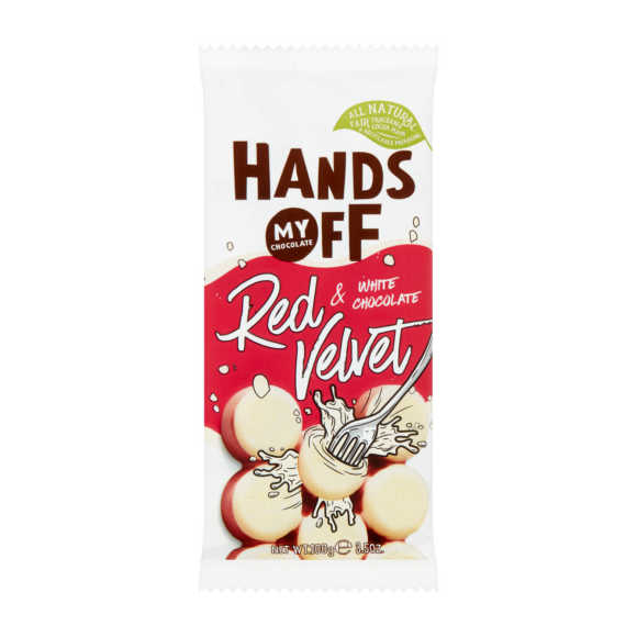 Hand off Red velvet white chocolade product photo