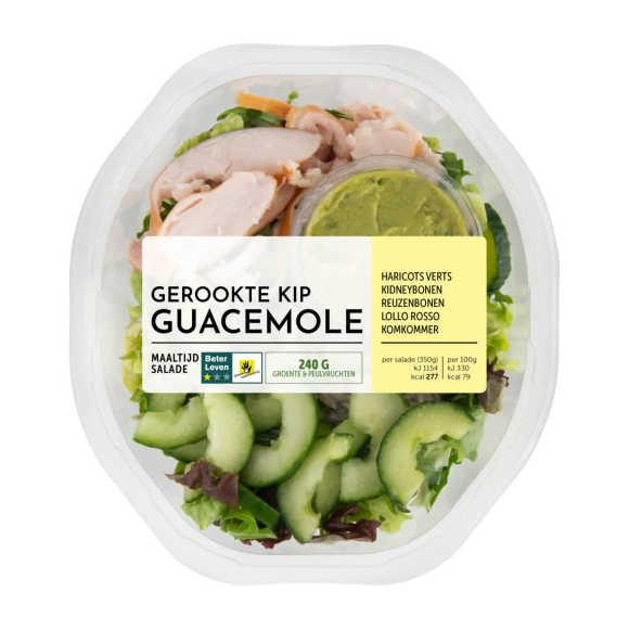 Fresh & Easy Maaltijdsalade gerookte kip guacamole product photo