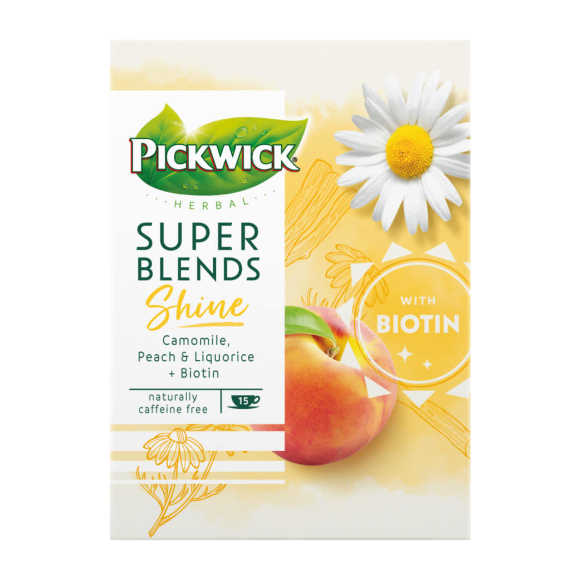 Pickwick Herbal super blends shine kruidenthee product photo
