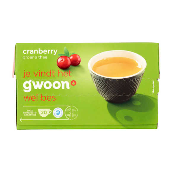 g'woon Groene thee cranberry product photo