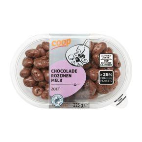 Chocolade rozijnen melk product photo