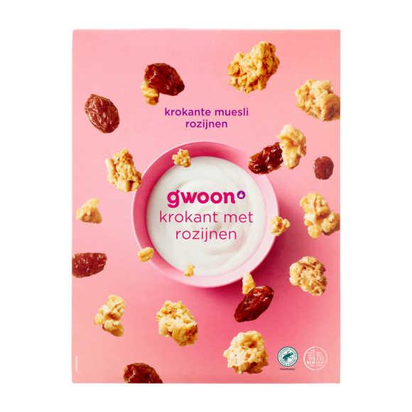 g'woon Krokant muesli rozijn product photo