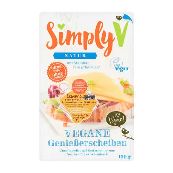 Simply-V Vegan slices naturel kaas plakken product photo