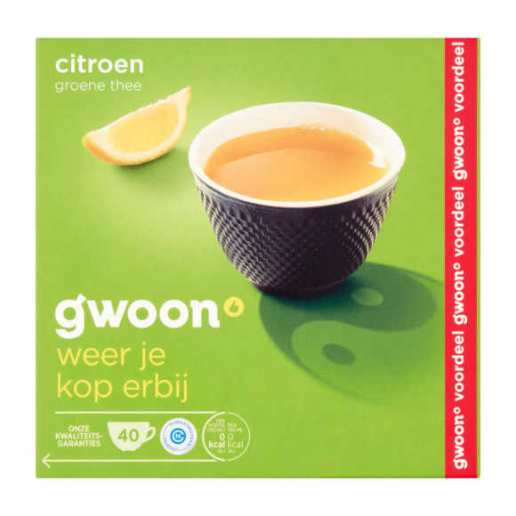 g'woon Groene thee citroen product photo