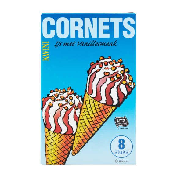 Kwini Cornets vanillesmaak product photo