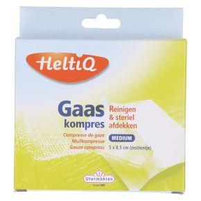 HeltiQ Gaaskompres 5 cm x 8,5 cm 16 stuks product photo