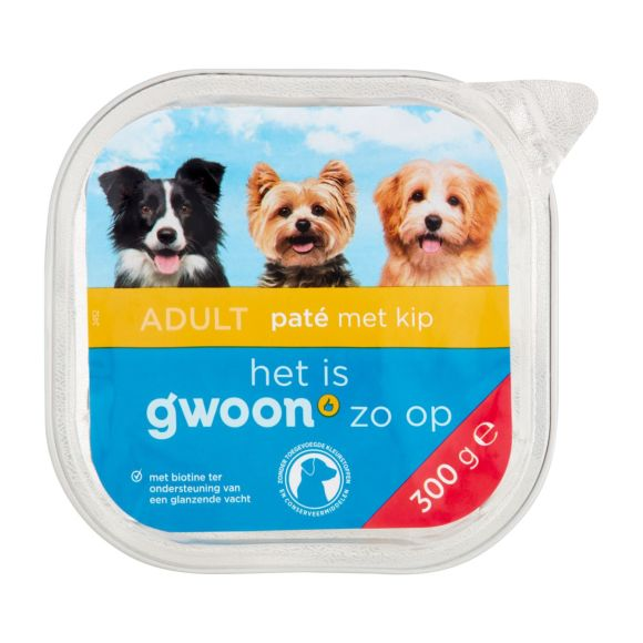 g'woon Pate kip hond product photo