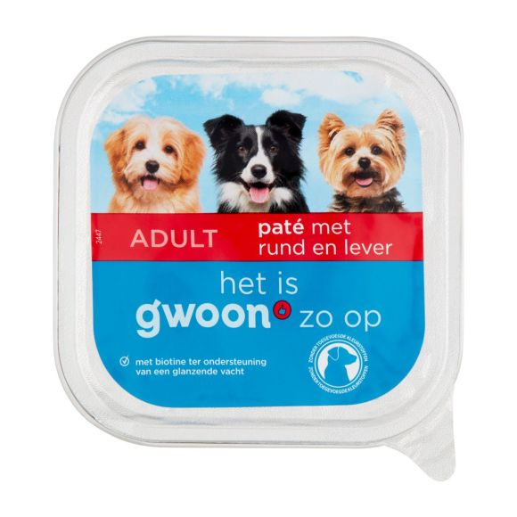 g'woon Paté rund & lever hond product photo
