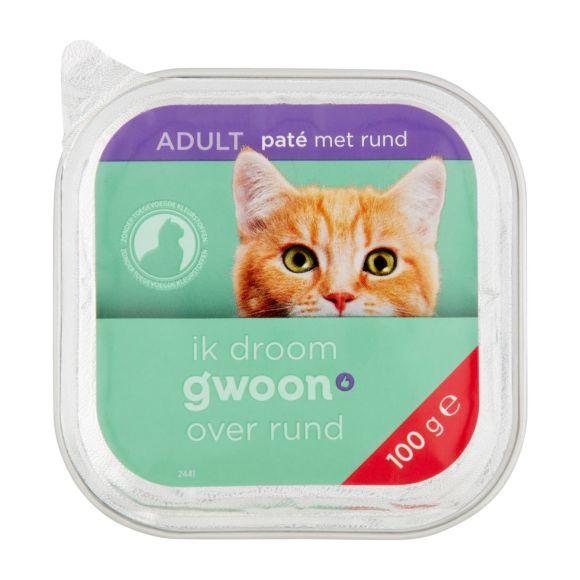 g'woon Pate kat met rund product photo