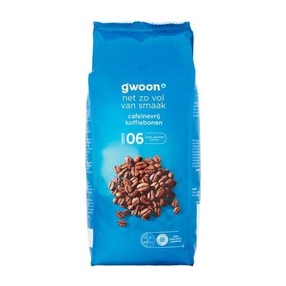 g'woon Koffiebonen cafeïnevrij product photo