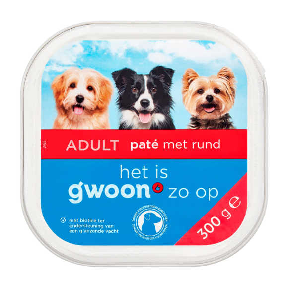 g'woon Pate rund hond product photo