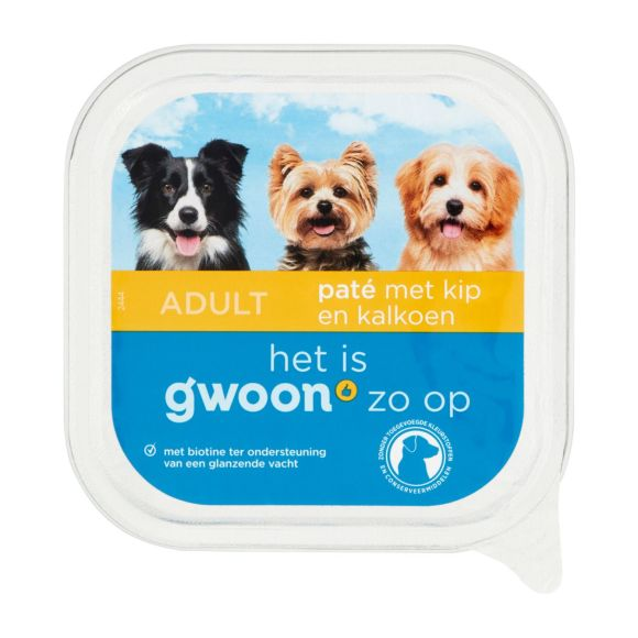 g'woon Pate kip en kalkoen hond product photo