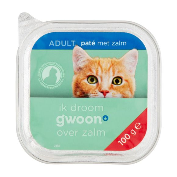 g'woon Pate kat met zalm product photo