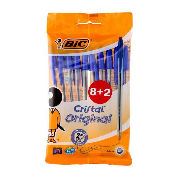 Bic Balpen cristal blauw mediumzakje á 8+2 gratis product photo