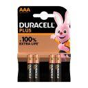 Duracel Alkaline Plus AAA X4 product photo