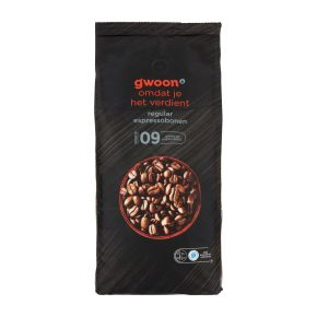 g'woon Espressobonen regular product photo