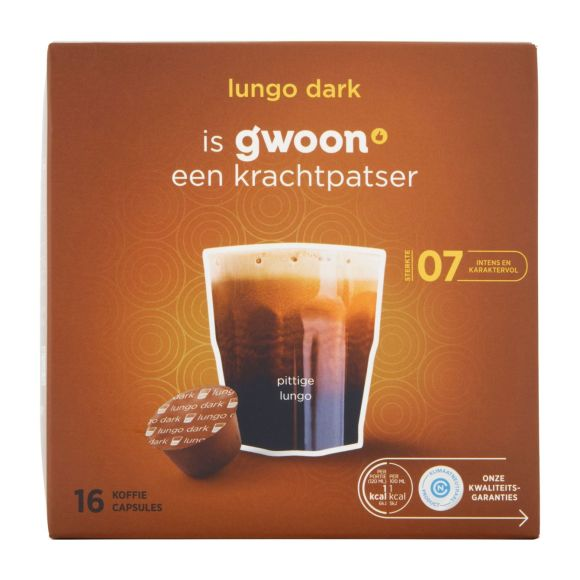 g'woon Dg cups lungo dark product photo