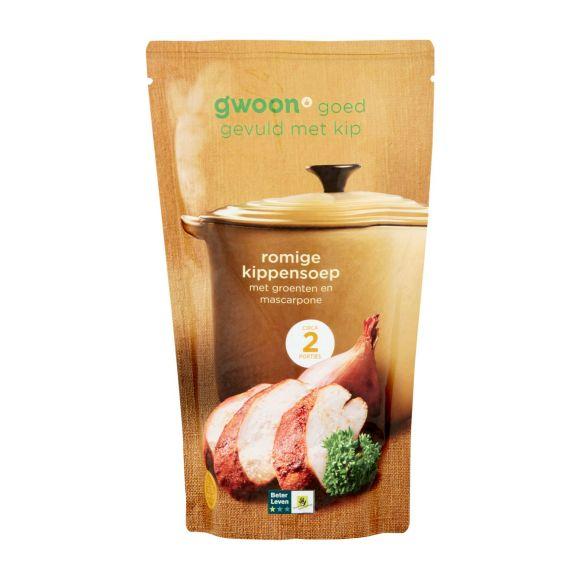 g'woon Romige Kippen soep in zak product photo