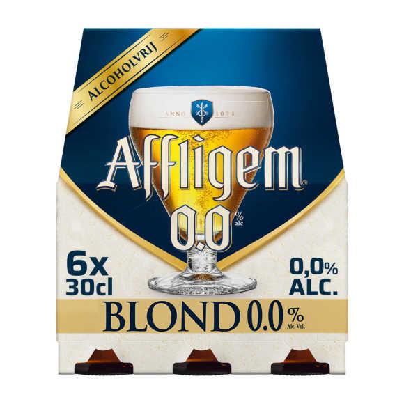 Affligem Blond 0.0 bier fles 6x30cl product photo