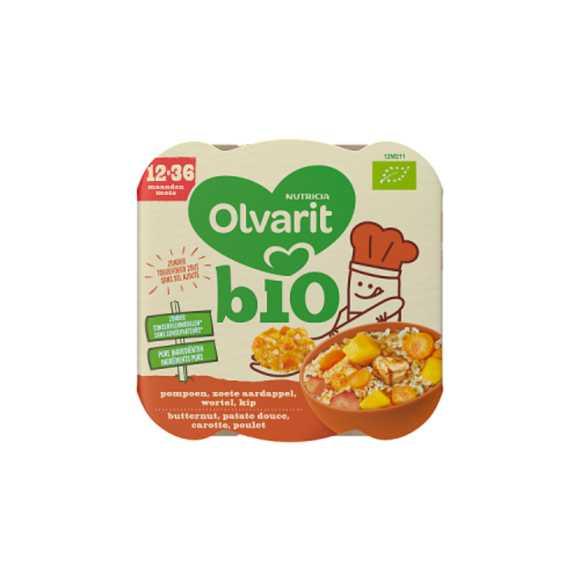 Olvarit Bio peutermenu kip, wortel en Zoete Aardappel 12+ maanden product photo