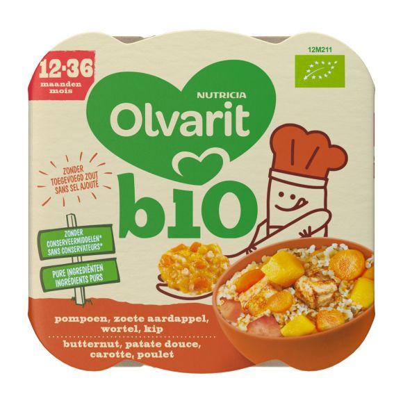 Olvarit Peutermenu biologisch kip-wortel-aardappelen product photo