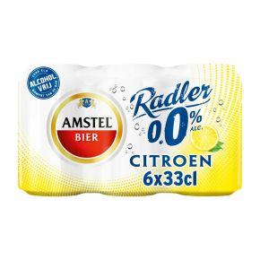Amstel Radler 0.0% citroen bier blik 6 x 33 cl product photo