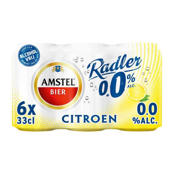Amstel Radler 0.0 bier citroen blik 6x33cl product photo