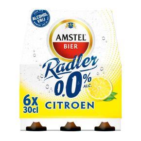 Amstel Radler 0.0% citroen bier fles 6 x 30 cl product photo