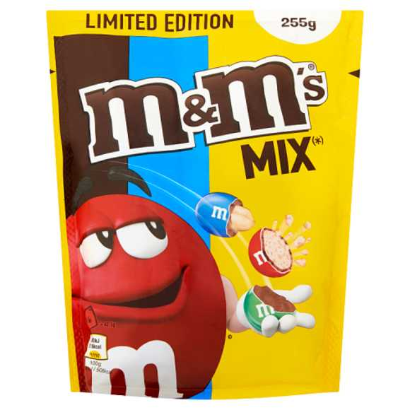 M&M'S Pinda, choco en crispy chocolade mix 255 g product photo