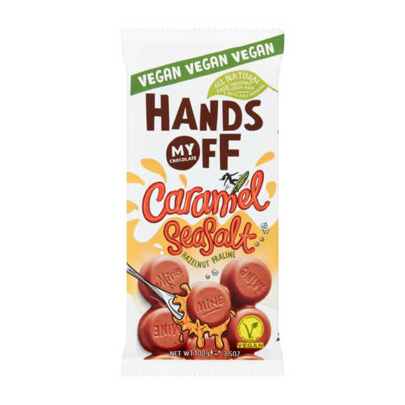Hands Off Vegan caramel seasalt product photo