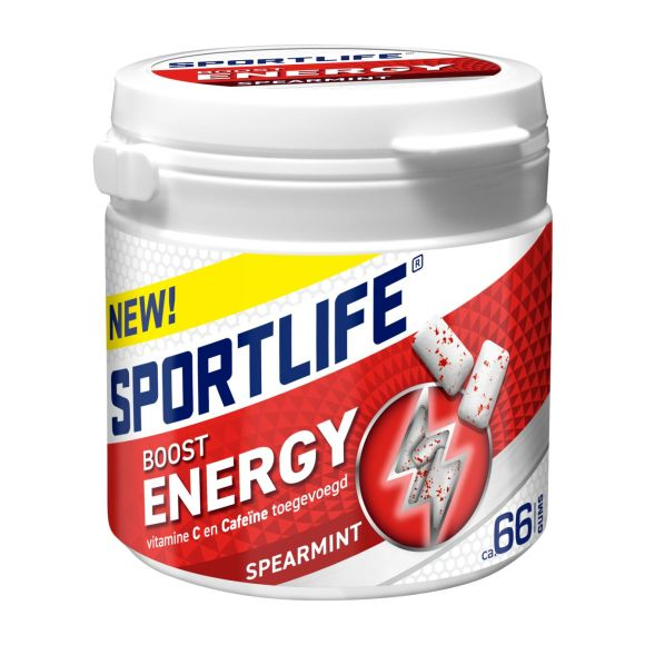 Sportlife Boost energy spearmint pot suikervrije kauwgom product photo