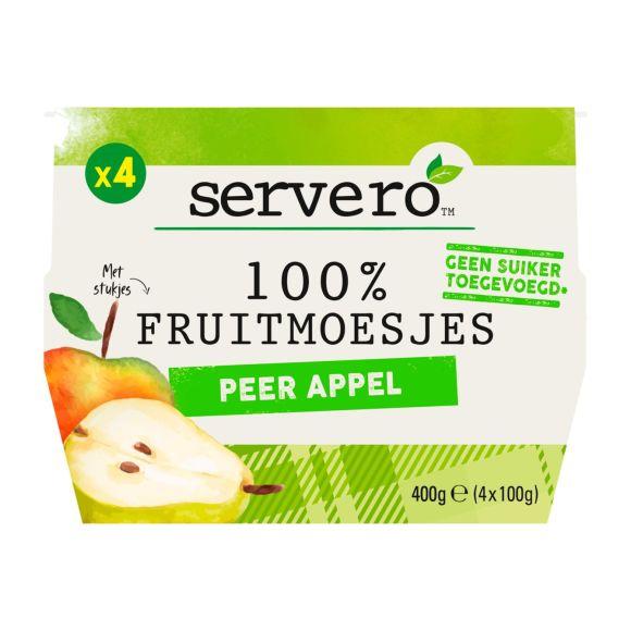 Servero 100% Fruitmoes peer appel 4st product photo