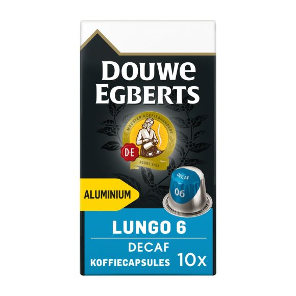 Douwe Egberts Lungo decaf koffiecups product photo