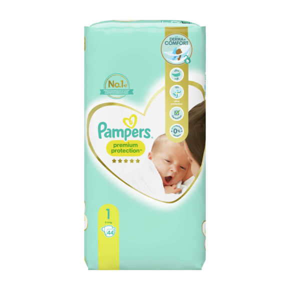 Pampers Premium Protection luiers maat 1, 2kg-5kg product photo