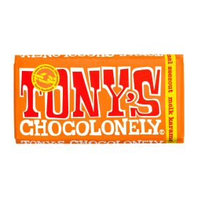 Tony's Chocolonely melk karamel zeezout product photo