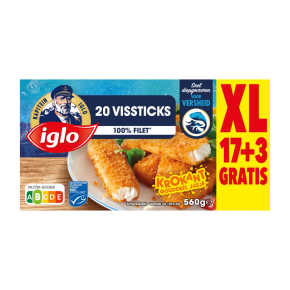 Iglo Vissticks 20 stuks product photo