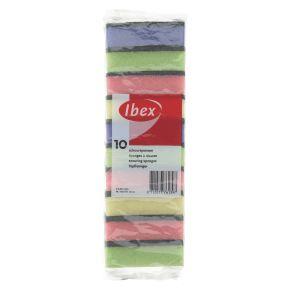Ibex Schuurspons meerkleurig 10 stuks product photo