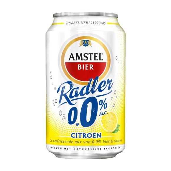 Amstel Radler 0.0% citroen bier blik product photo