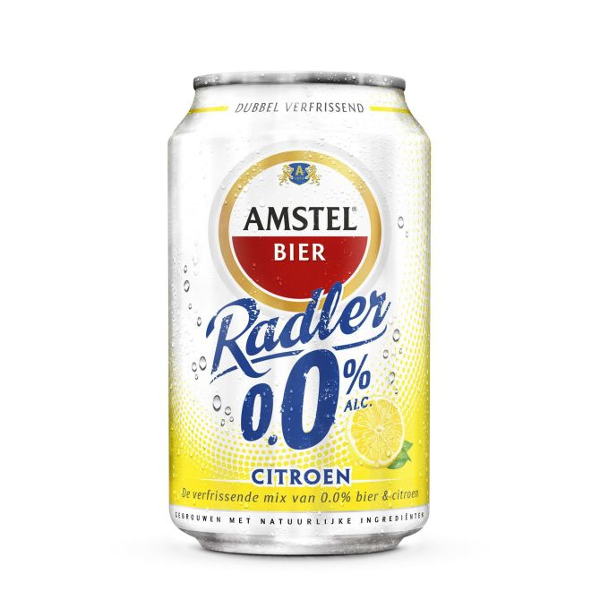 amstel radler 0 0 citroen bier blik online bestellen. Black Bedroom Furniture Sets. Home Design Ideas