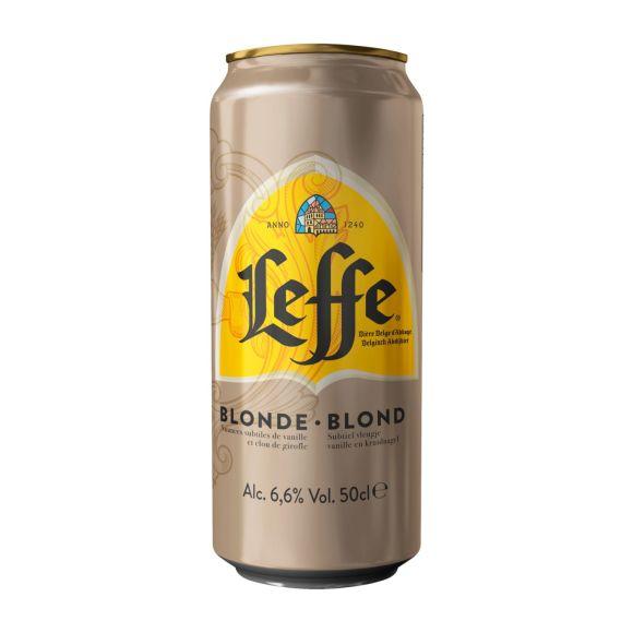 Leffe Blond bier blik product photo