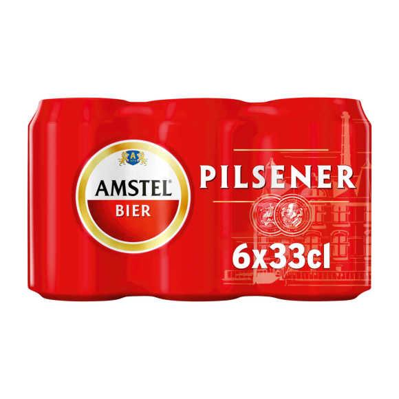 Amstel Pilsener bier blik 6x33cl product photo