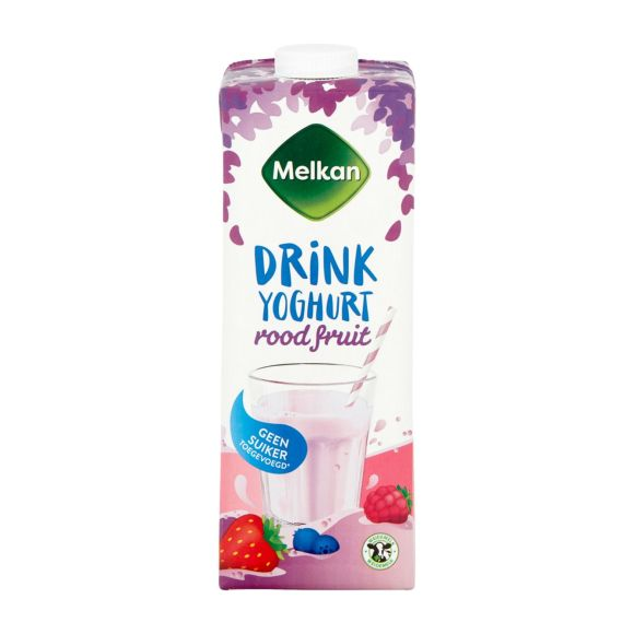 Melkan Drinkyoghurt rode vrucht light product photo