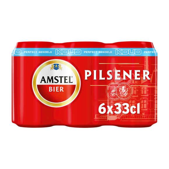 Amstel Pilsener bier gekoeld blik 6x33cl product photo